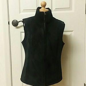 Oleg Cassini black Suede look Vest